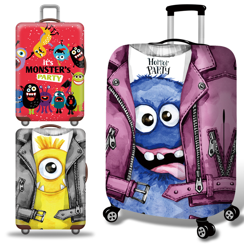 Strange Luggage Cover Travel Suitcase Protector Suit For 18-32 Size Trolley Case Dust Travel Accessories Elasticity Box Sets