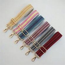 Hjkl cinto colorido para mulheres, acessório feminino arco-íris com alça de ombro ajustável, bolsa de mão, decoração com alça