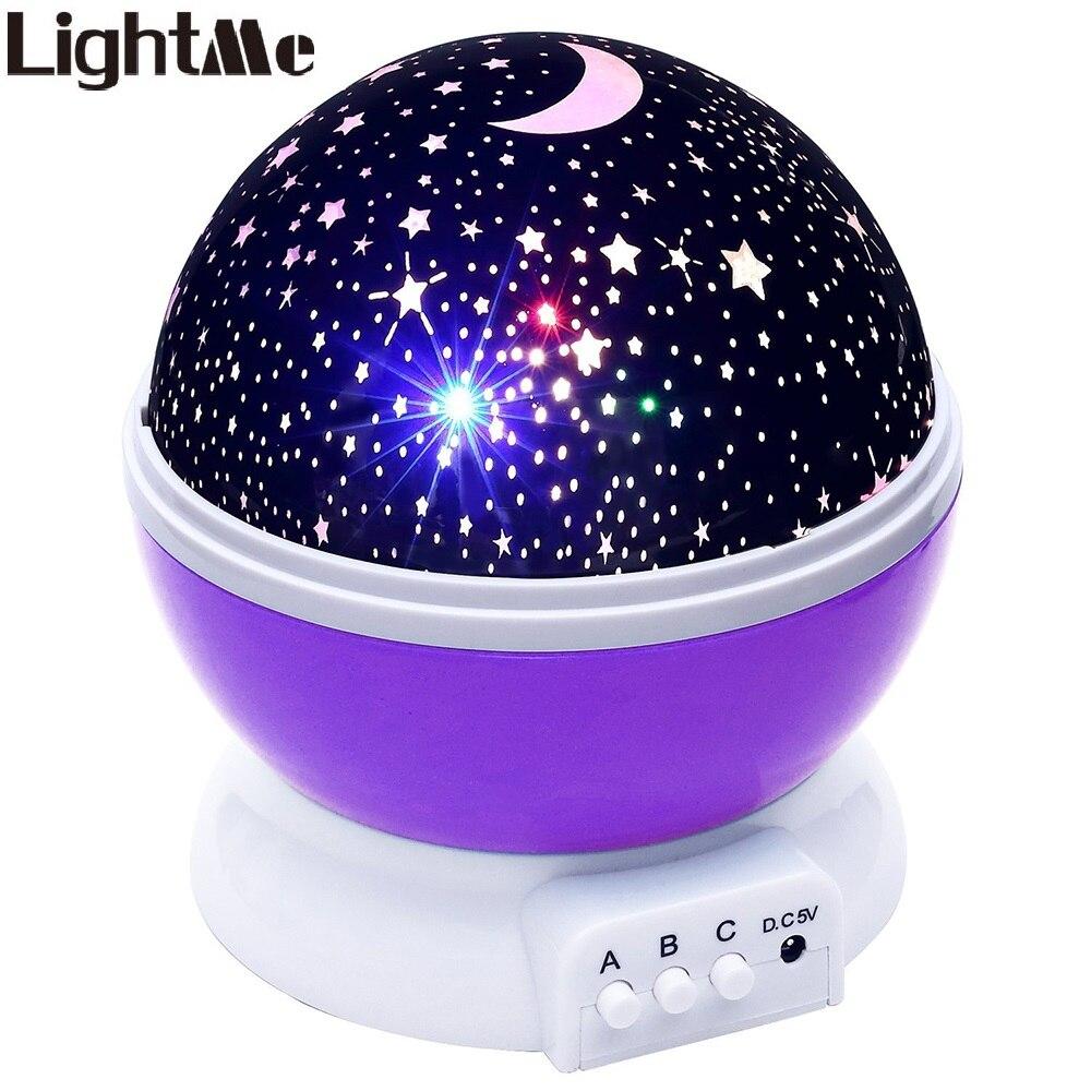 Lightme Stelle Cielo Stellato LED Proiettore di Luce di Notte di Luna Lampada USB Batteria Per Bambini Regali Per Bambini Camera Da Letto Lampada Lampada di Proiezione Z20
