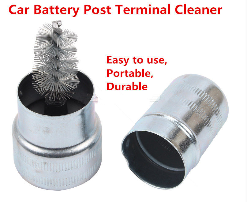 Free shipping!Car Battery Post Terminal Cleaner Dirt And Corrosion Brush Hand Clean Tool