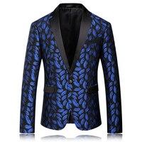 2016 Royal Blue Blazers Linen Mens Luxury Mens Suits Blazer Masculino Trang Phục Homme Bữa Ăn Tối Jackets Wedding Dress Phù Hợp Với Xã Hội