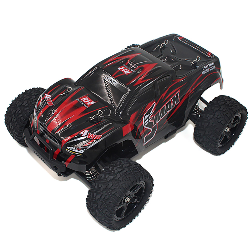 High Speed 1:16 4WD RC Brushed Truck Water resistant ESC Off Road Monster Truck SMAX RC Remote Control Toys With Transmitter RTR