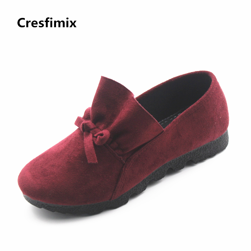 Cresfimix sapatos femininos women fashion flock slip on flat shoes lady soft and comfortable black shoes female cool soft flats cresfimix zapatos de mujer women fashion pu leather slip on flat shoes female soft and comfortable black loafers lady shoes