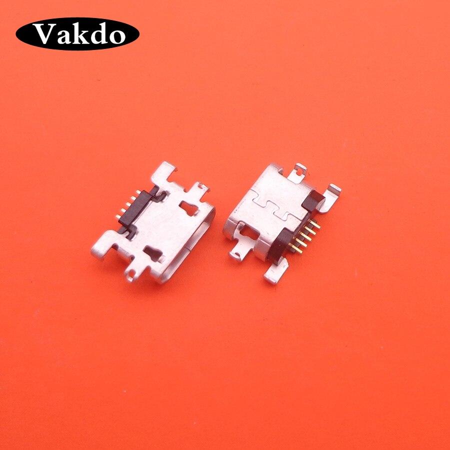 2pcs Micro Usb Connector Jack Socket Charging Port Dock Plug Female 5 Pin For Blackview E7 5.5Inch HD 1280x720 MTK6737 Quad Core