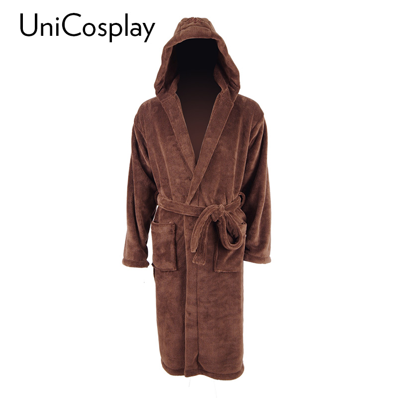 Star Wars Bathrobe Sleep Spa Robe Brown Pajamas Coral Fleece flannel Gown home Dressing  ...