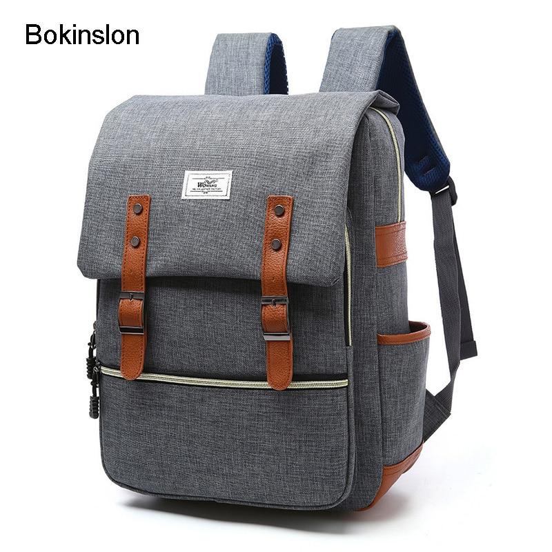Bokinslon Womens Small Backpacks Nylon Solid Color Ladies Bag Fashion  Popular Women Backpack Designers Brand fa48389126e46