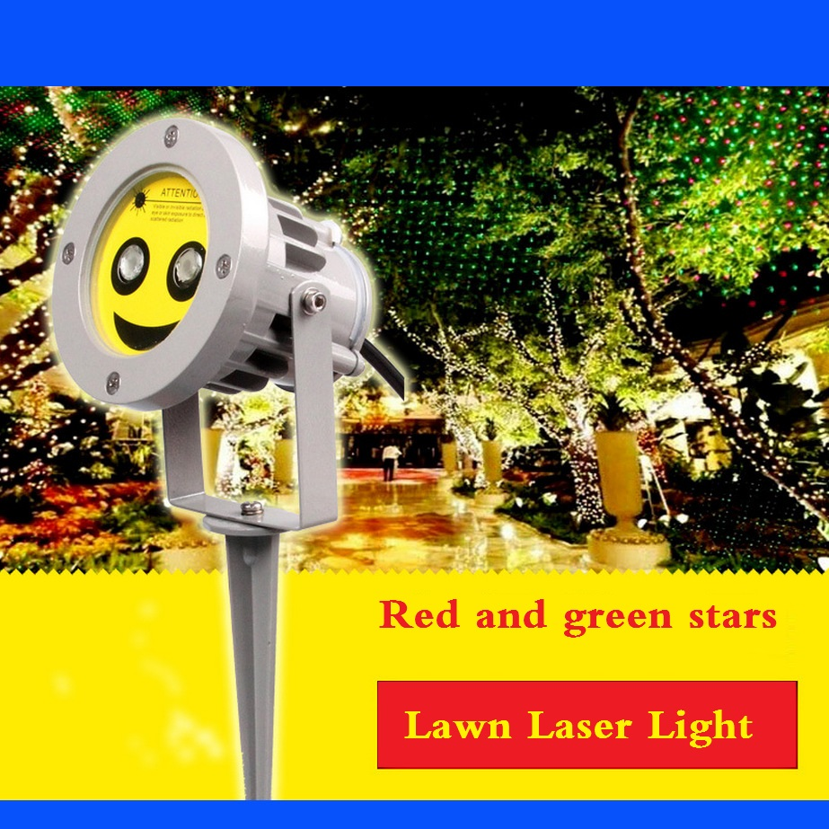 ФОТО Mini outdoor landscape plants lawn with laser light