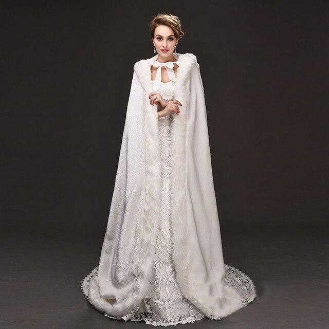 bdc968782e48 Nuovo Arrivo Elegante Cappotti Sposa Caldo Da Sposa Del Capo Inverno Fur  Coat Women Wedding Bolero