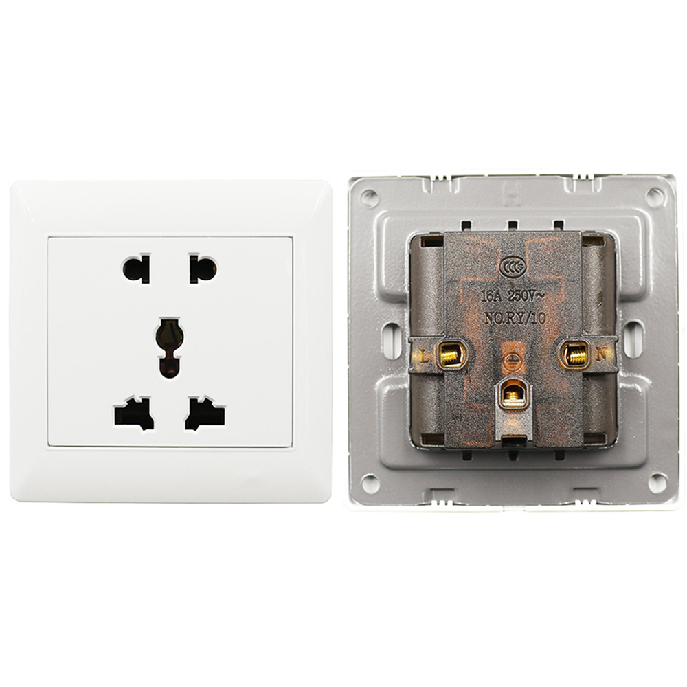 1PCS Universal 5 Hole Electric AC Power Outlet Panel Plate Wall Charger Dock Socket Electrical Sockets High Quality