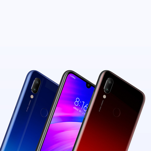 Global Rom Xiaomi Redmi 7 4GB RAM 64GB ROM Snapdragon 632 Octa Core 12MP Dual AI Camera Mobile Phone 4000mAh Large Battery 4
