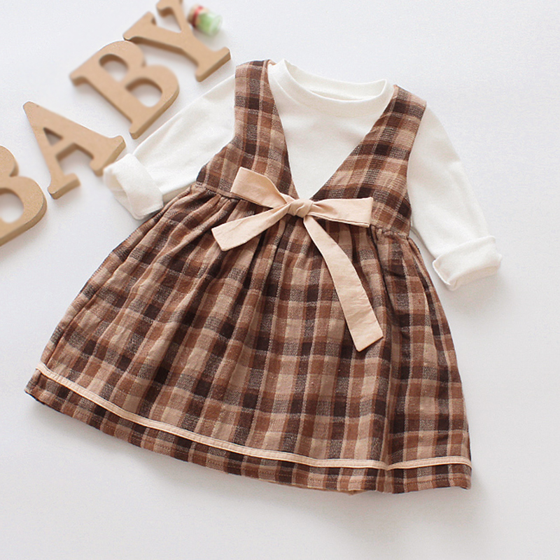 Baby Dress Cotton Dress 1 Year Old Baby Girls Dress Autumn New Born Baby Girl Clothes Long Sleeve Infant Princess Floral Dress flutter sleeve elastic waist floral dress