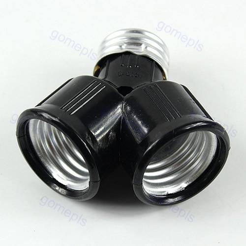 E27 Base Light Lamp Bulb Socket 1 To 2 Splitter Adapter Converter Socket #K4U3X#