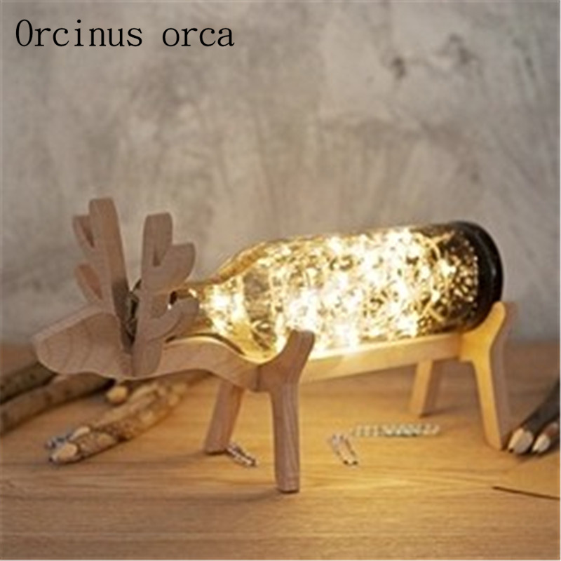 Original design deer lamp handmade glass deer night lamp Nordic wind lamp LED lamp