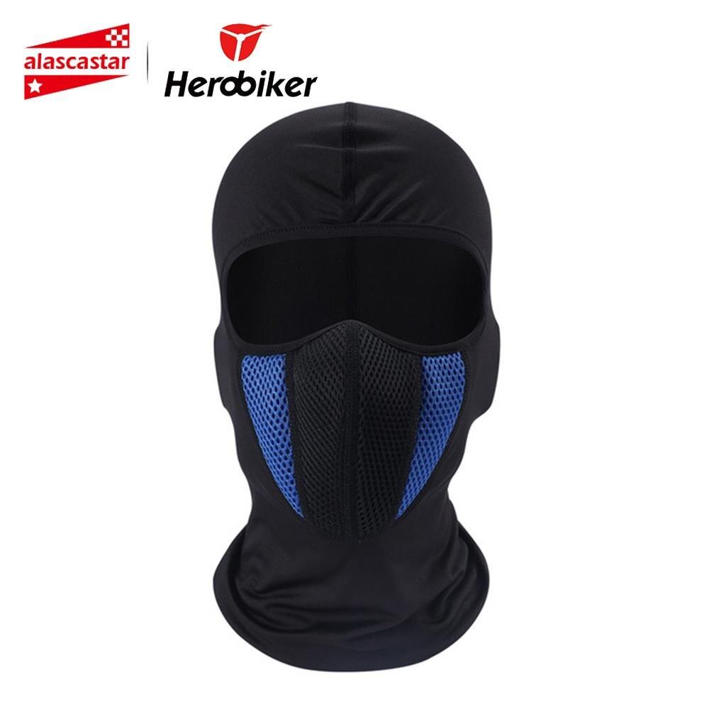 HEROBIKER Motorrad Maske Gesicht Schild Balaclava Full Face Maske Haube Mascara Maske Motorrad Biker Maske Mascara Moto 4 Farben