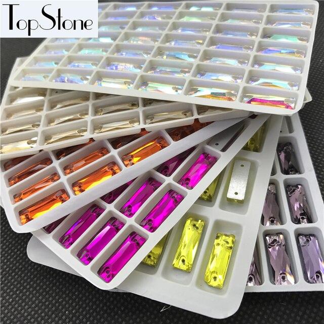 All Colors Glass Crystal Cosmic Baguette Sew On Stones Flatback 5x15 ... 9b719dfb1a4d