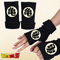 2016 Winter Cotton Glove Half Finger Anime Dragon Ball Cartoon Master Roshi Printing Black Mitten Gloves Unisex Cosplay Gift