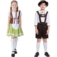 Germany Beer Festival Waiter Cosplay Costumes Boys And Girls Oktoberfest Costumes Kids Children Role Play Belt Pants S XL