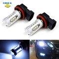 80 W poder más elevado del CREE H11 H8 llevó bombillas de repuesto para faros antiniebla luces de conducción de la lámpara Canbus decodificadores de BMW X3 x5, ford, Kia coche europeo