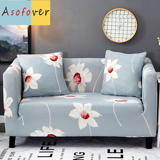 Sun Moon Flower Sofa Cover Elastic Slipcover Cubre Stretch Furniture Covers Protector
