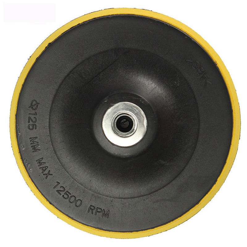 Mayitr M14 Backing Pad Car Polisher Bonnet Holder 3 4 5 6 7 inch Angle Grinder Wheel Sander Paper Disc Car Polishing Polisher