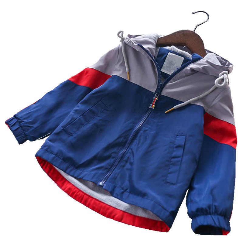 Y Autumn boy jacket blue hooded fleece worm boy Winter Jacket for boy Clothes Windbreaker Children Clothes футболка для мальчиков children boy clothes camisa 100