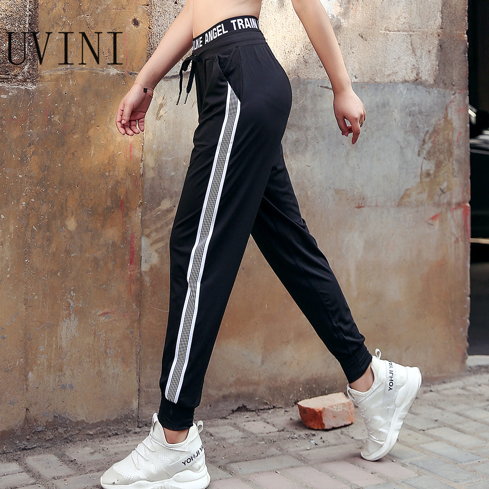 UVINI Sports Pants Autumn Women Loose Yoga Pants Sports Trousers Exercise Fitness Running Jogging Trousers Workout Sport Pants