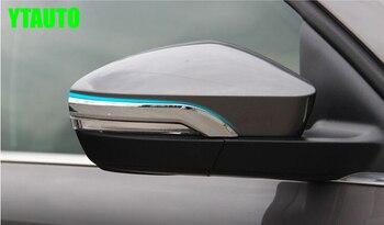 Cubierta para espejo retrovisor de coche, embellecedor de espejo trasero para Skoda Octavia 2015, cromo ABS, 2 piezas por lote, estilo de coche