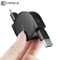 CAFELE Type C USB Cable Charger For Samsung Huawei P10 Xiaomi Mi6 mi5S Meizu Mx6 Oneplus Retractable USB-C Mobile Phone Cables