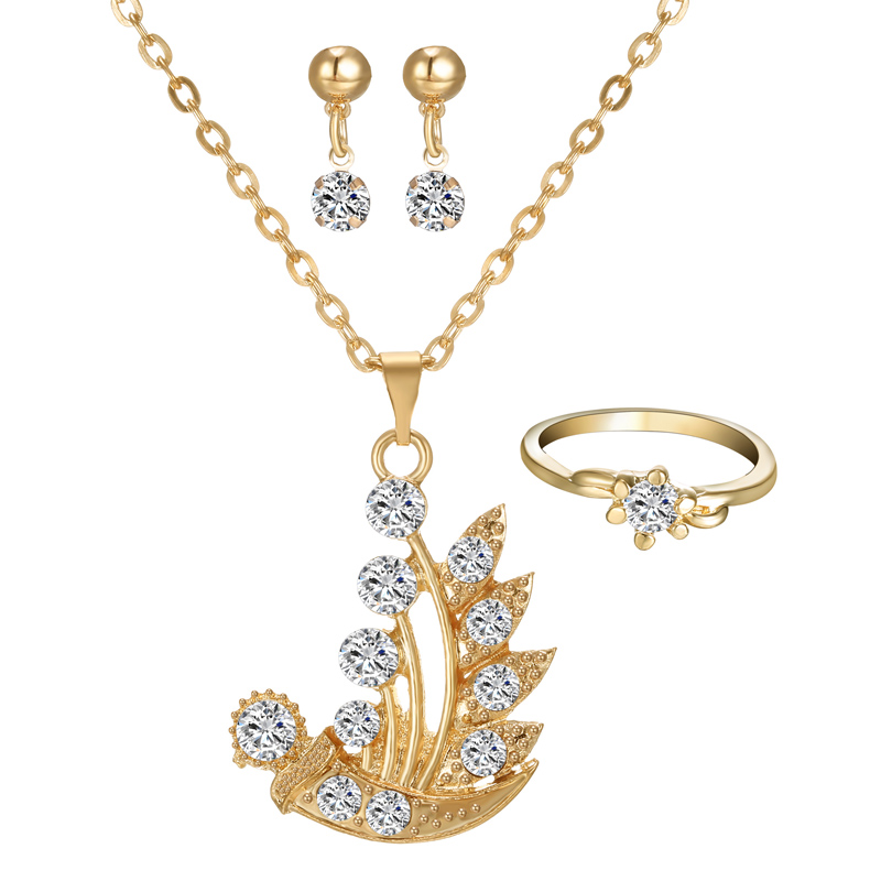 Women Jewelry Set Crystal...