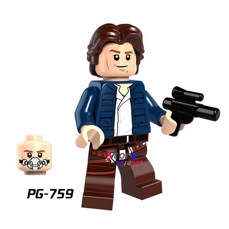 Single star wars Han Solo Jedi Battle of Geonosis Attack of Clones building blocks models bricks toys for children kits dark journey star wars the new jedi order
