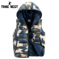 TANGNEST Camouflage Vest 2017 Men Hooded Fashion New Style Outwearing Vest Casual Male Winter Warm Asian Size Vest MWB170
