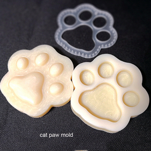 Image 3 - Ofício de couro cão gato pata chaveiro diy pingente forma modelagem molde plástico com corte molde plástico conjunto 75mm