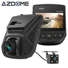 A305D Dual Lens FHD 1080P Car DVR Novatek 96658 LCD Screen Sony IMX323 Car Video Recorder Dash Cam With Rear Camera Azdome