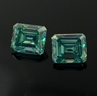 GIGAJEWE Green Color 2.5ct Emeralds Cut Wholesale Synthetic Moissanite Beads Manufacture & Supply On Sale