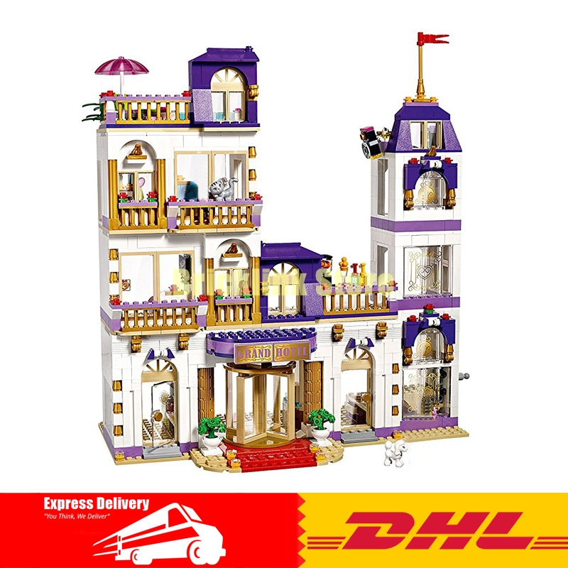 Lepin 01045 1676Pcs Girls Series The Heartlake Grand Hotel Building Blocks Compatible 41101 Brick Toy in stock lepin 01045 1676pcs girls series the heartlake grand hotel set children eucational building block brick toy model gift