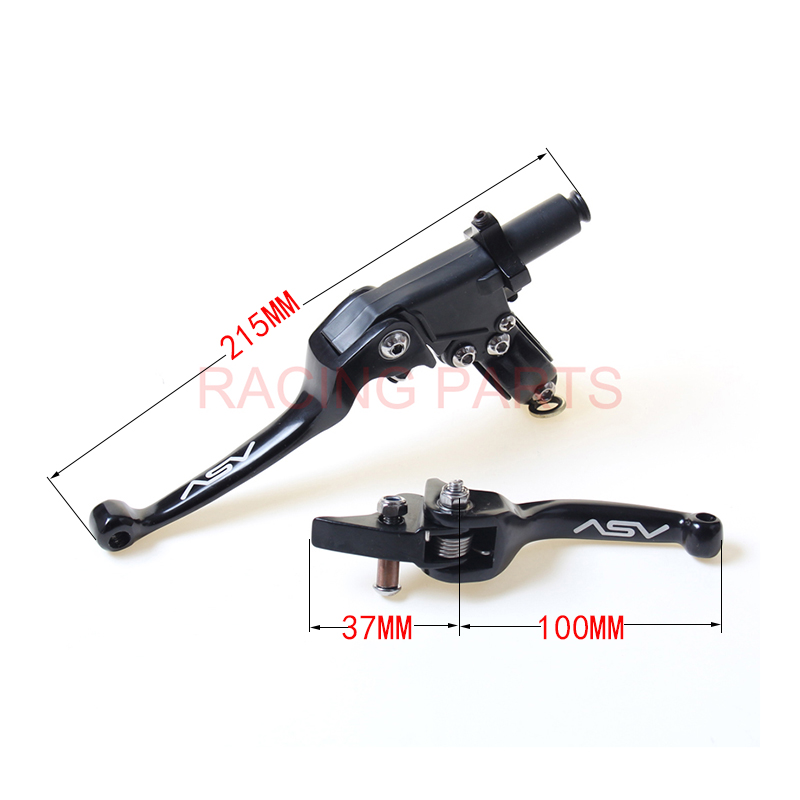 Aluminum ASV F3 series 2nd Clutch and Brake Lever Folding of most Motorcycle ATV Dirt Pit Bike YZF RMZ WR KLX CRF