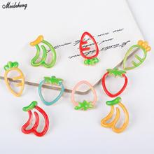 Fashion Cute Kids Summer Fruit DIY Beads Fresh Headdress Children Hair Accessory Hanging Hole Rubber Band