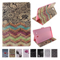 For Case Samsung Galaxy Tab E 9.6 T561 Fashion Printing PU Leather Stand TPU Tablet Case Cover Tab E 9.6 SM-T560 Funda Coque