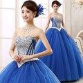 2015 Nueva Llegada vestido de Bola Del Organza Perlas Con Crystal vestidos de Quinceañera vestidos Vestidos de 15 Años Vestidos De 15 Anos dulce 16 vestido