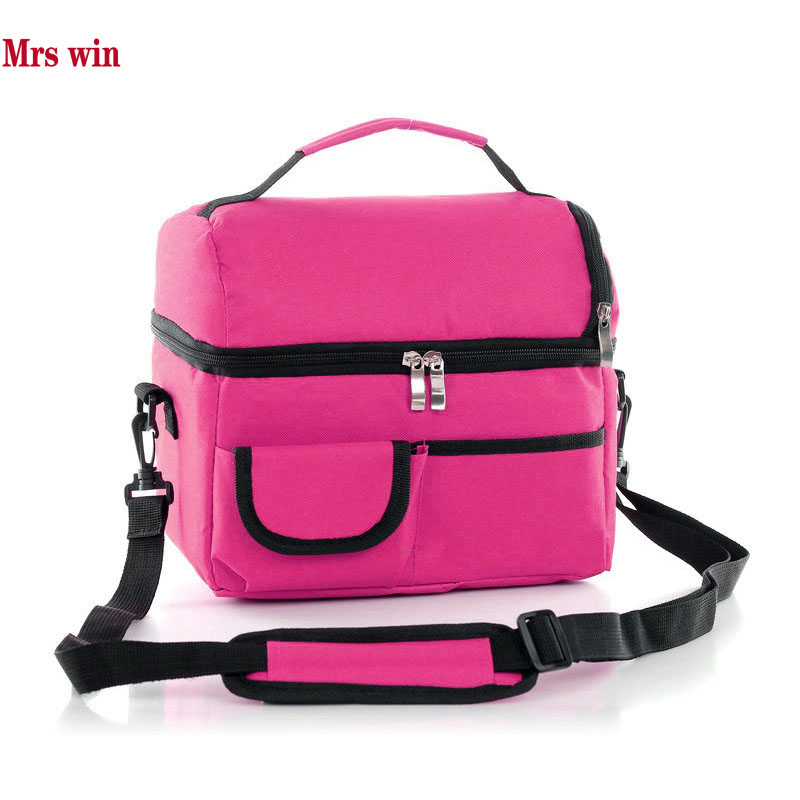 Mrs win Thermo Cooler Insulated Lunch Bags for Women Kids Thermal Bag Lunch Box Ice Pack Food Picnic Bags Tote Handbags WCB2