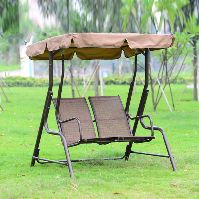 Love seater patio garden swing chair hammock outdoor sling cover bench with canopy for adults outdoor 2person canopy swing chair patio hammock seat yard porch furniture steel page 1