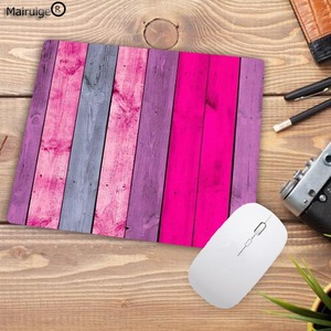 Image 3 - Mairuigeビッグプロモーションカラフルな木製マウスパッドマウスパッド洗える非スキッドゴムパッドかがりマウスパッド22X18CM