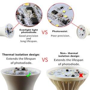 Image 5 - Lampka nocna LED zmierzch do świtu żarówka 10W 15W E27 B22 inteligentna żarówka żarówka 85 265V automatyczne włączanie/wyłączanie lampa oświetleniowa wewnętrzna/zewnętrzna