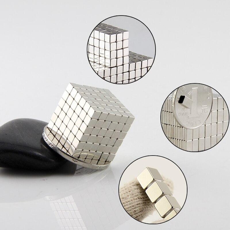 1000 pièces bloc cube aimant, 3x3x3mm, 5x5x5mm, 10x10x10mm, en vente