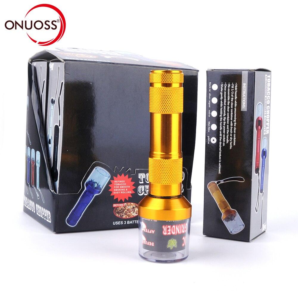 ONUOSS Electric Aluminum Metal Grinder Crusher Crank Tobacco Smoke Spice Herb Muller Mac ...