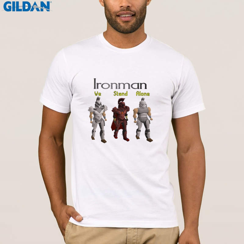 Anti Wrinkle Triathlon Ironman T Shirt Men Runescape Ironman