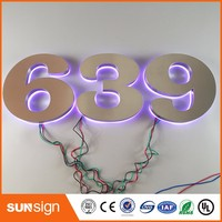 Lighted Alphabet Metal Letter Sign Light Up Letters For Sign Backlit Led Channel Letters Sign