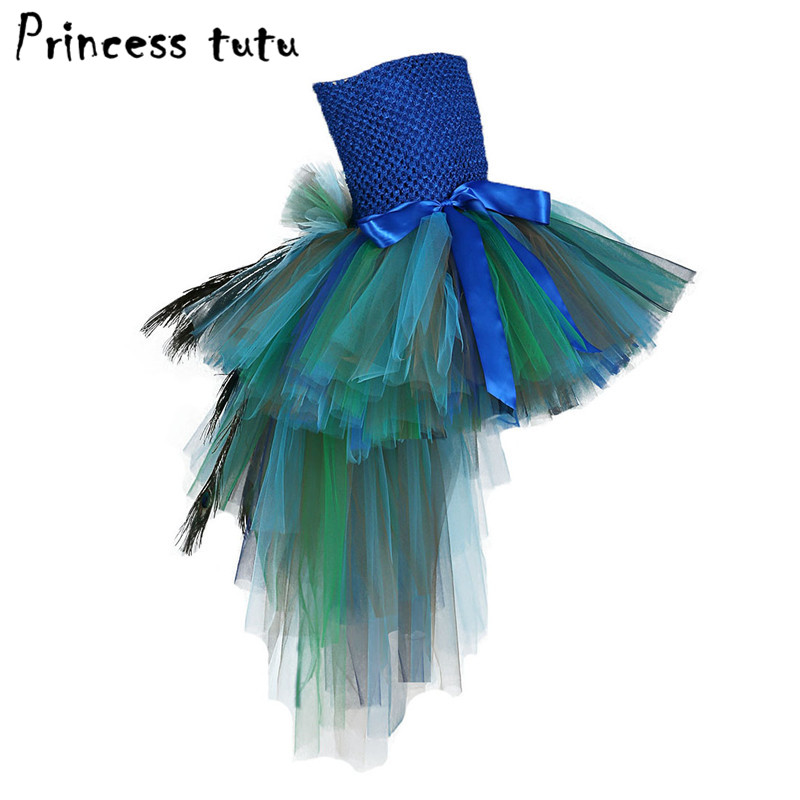 Wedding Dress Girl Kids Girls tulle Party Tailing Dress Children Birthday Party Shower Costumes Peacock Feather Cosplay A006Wedding Dress Girl Kids Girls tulle Party Tailing Dress Children Birthday Party Shower Costumes Peacock Feather Cosplay A006