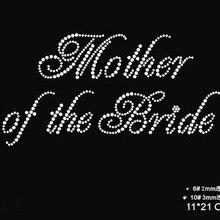 2pc lot Mother of the bride motif designs iron on transfer rhinestones fix  wedding dress bb8b9b7d17c9