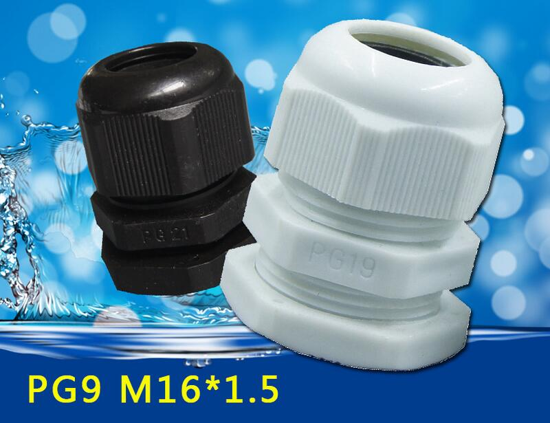 10PCS High Quality IP68 PG9 4-8MM Waterproof Nylon Cable Gland Waterproof Gasket Plastic Waterproof Connector sp1310 waterproof